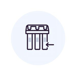 Установка фильтра  колонного типа 10х54