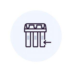 Повторная установка фильтра с отдельным краном